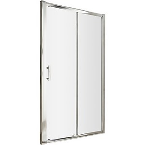 Balterley Single Sliding Shower Door - 1100mm (6mm Glass)