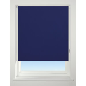 Navy Blue B Out Blind - 90cm