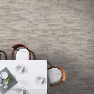 Wood Effect Tavira Grey 15 x 60cm Floor Tile