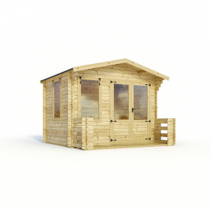 Mercia (Installation Included) 3.3x3.4m Sherwood 19mm Log Cabin