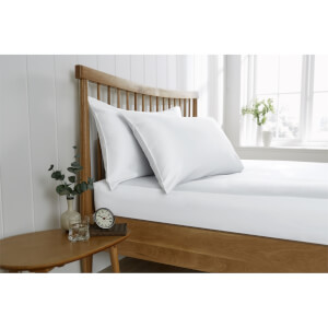 Behrens Double Fitted Sheet - White