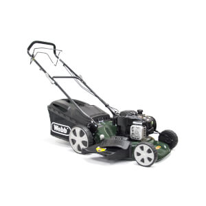 Webb High Wheel Petrol Rotary Mower 18In