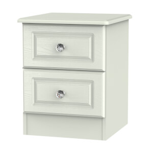 Florence Kaschmir Ash 2 Drawer Bedside Cabinet