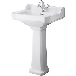 Balterley Harrington Comfort Height 1 Tap Hole Basin Pedestal - 560mm