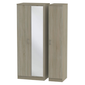Amalfi Darkolino Triple Mirror Wardrobe
