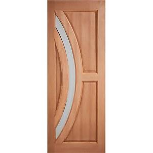 Harrow External Glazed Unfinished Hardwood 1 Lite Door - 762 x 1981mm