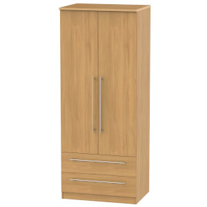 Siena Modern Oak 2 Drawer Wardrobe