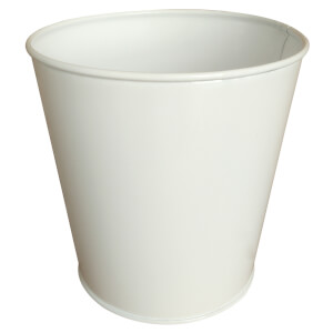 White Single Planter 13cm