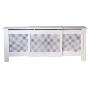 Diamond White Radiator Cover - Adjustable