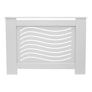 Wave White Radiator Cover - Small