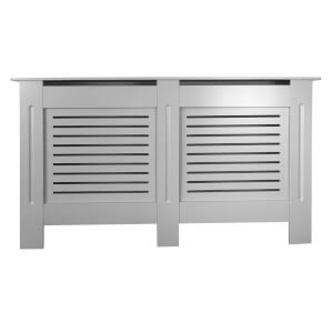 Horizontal Grey Radiator Cover - Large
