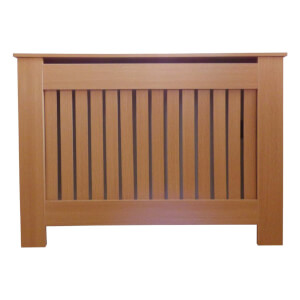 Vertical Oak Radiator Cover - Small