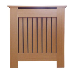 Vertical Oak Radiator Cover - Mini