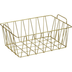 Small Wire Basket - Natural Gold