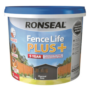 Ronseal Fence Life Plus 9L - Charcoal Grey