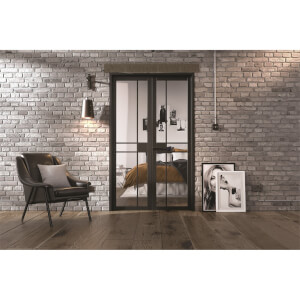 Greenwich - W4 Room Divider - Black - 2031 x 1246 x 35mm
