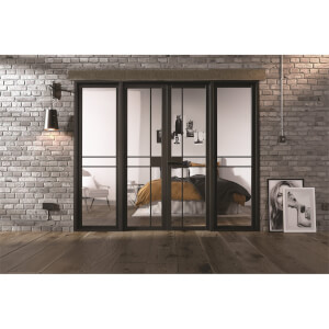 Greenwich - W8 Room Divider - Black - 2031 x 2478 x 35mm