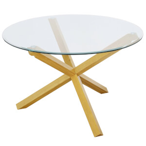 Oporto Dining Table - Oak & Glass