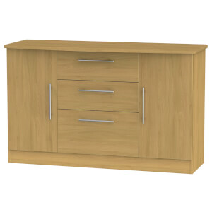 Siena 2 Door 3 Drawer Sideboard - Modern Oak