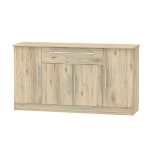 Siena Wide 4 Door 1 Drawer Sideboard - Bordeaux Oak