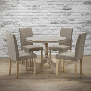 Provence 4 Seater Dining Set - Melodie Dining Chairs - Beige