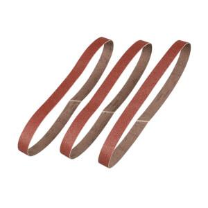 STANLEY - 3x 120g Powerfile Belts 13mm
