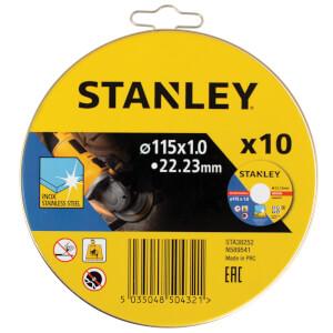 STANLEY 10x Cutting Discs - 115 x 1mm