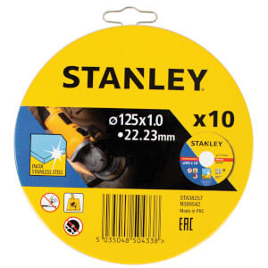 STANLEY 10x Cutting Discs - 125 x 1mm