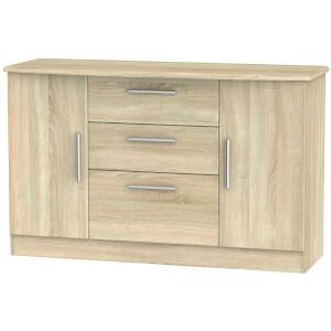 Kensington 2 Door 3 Drawer Sideboard - Bardolino Light Oak