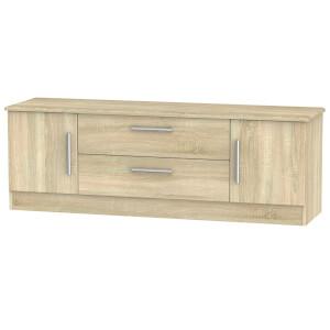 Kensington 2 Door 2 Drawer TV Unit - Bardolino Light Oak