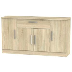 Kensington Wide 4 Door 1 Drawer Sideboard - Bardolino Light Oak