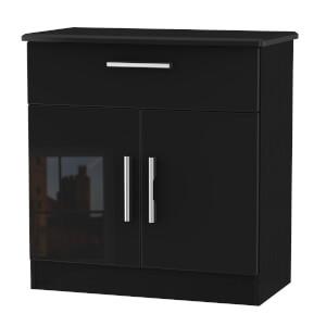 Kensington 1 Drawer Sideboard - Black