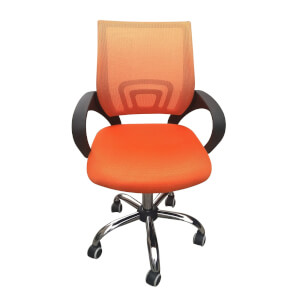 Tate Mesh Back Office Chair - Orange