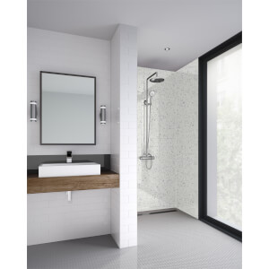 Wetwall Galaxy White - 900mm - Square Edge - Laminate