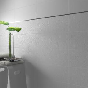 Monochrome White Wall Tile - 20x50