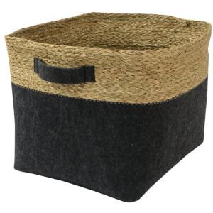 Clever Cube Seagrass & Felt Insert - Black