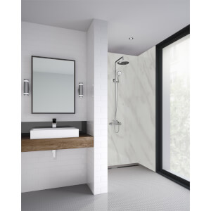 Wetwall Cararra Marble - 1200mm - Square Edge - Laminate
