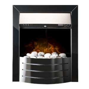 Comet Electric Inset Fire in Obsidian Black