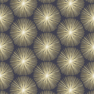 Sublime Fire Circle Gold Wallpaper