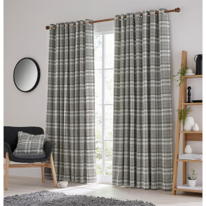Helena Springfield Harriet Lined Curtains 90 x 72 - Charcoal