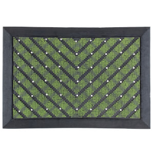 Chevron scraper doormat -Green
