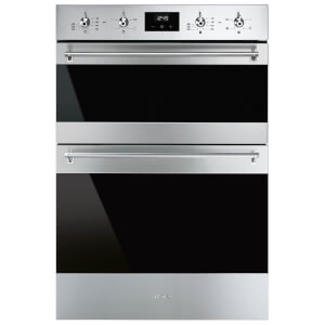 Smeg DOSF6300X 60cm Classic Stainless Steel and Eclipse Glass Double Multifunction Oven