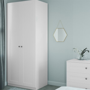 Modular Bedroom Shaker Double Wardrobe - White