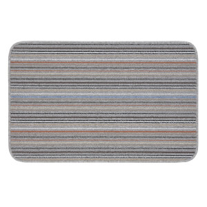 Striped washable indoor doormat