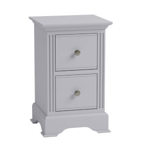 Camborne Bedside Table - Grey