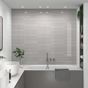 Manhattan Linea White Wall Tile-25x40