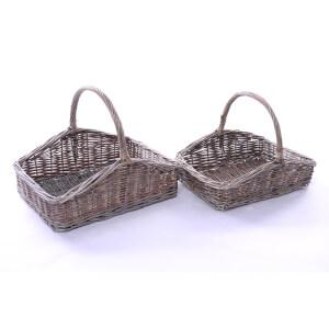 Set of 2 Wicker Gardeners' Baskets