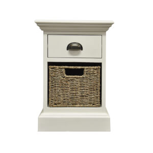 Holywell 1 Drawer 1 Wicker Basket Cabinet