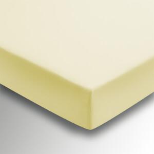Helena Springfield Plain Dye 36cm Deep Fitted Sheet - Super King - Citron
