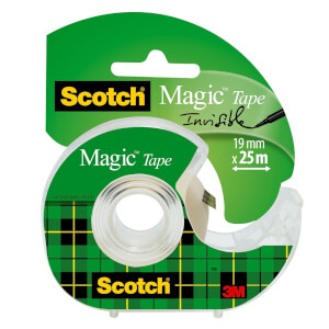 Scotch Magic Tape on Hand Held Dispenser - 19mm x 25m